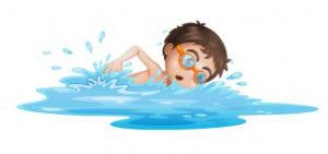 Dziecko pływające