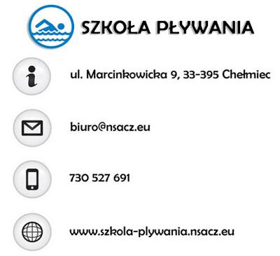 kontakt-szkoła-pływania Aqua Centrum Chełmiec