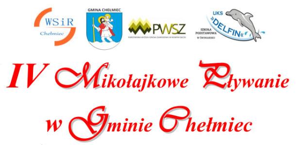 Gminne Zawody Pływackie w Chełmcu 2019 roku.