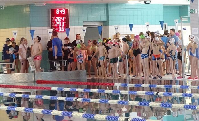 IV Zawody Mikołajkowe w pływaniu na basenie w Chełmcu